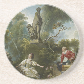 Progress of Love: The Rendezvous by Fragonard Coaster