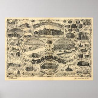 Progress of St Louis - 1884 (Vogel) BigMapBlog.com Poster