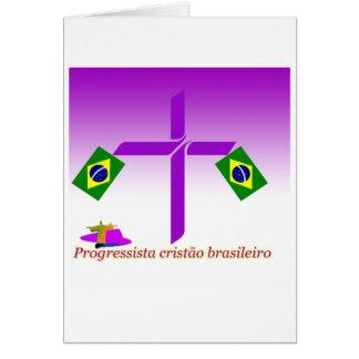 Progressista Cristão brasileiro Logo Greeting Card