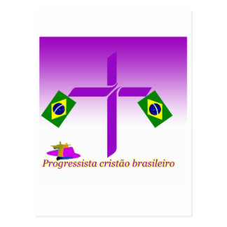 Progressista Cristão brasileiro Logo Postcard