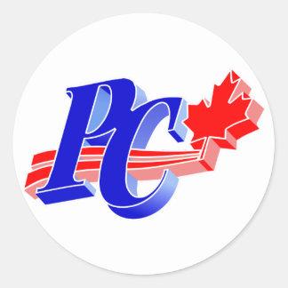 Progressive Conservative Old Party Logo Classic Round Sticker