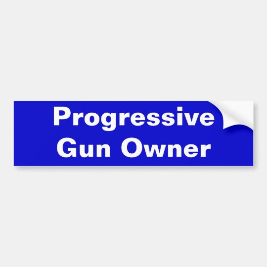 Progressive Gun Owner Bumper Sticker