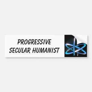 Progressive Secular Humanist - Blue Bumper Stickers