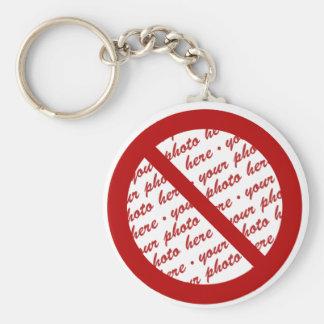 Prohibit or Ban Symbol - Add Image Keychain