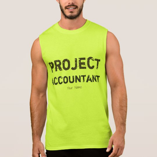 """Project Accountant"" Sleeveless Shirt"