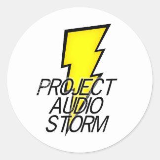 Project Audio Storm Round Sticker