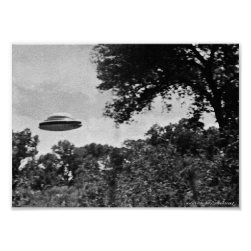Project Blue Book-UFO over Trees Poster