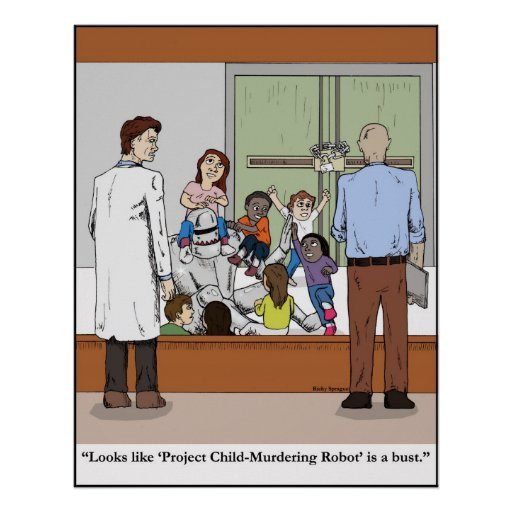 Project Child-Murdering Robot poster