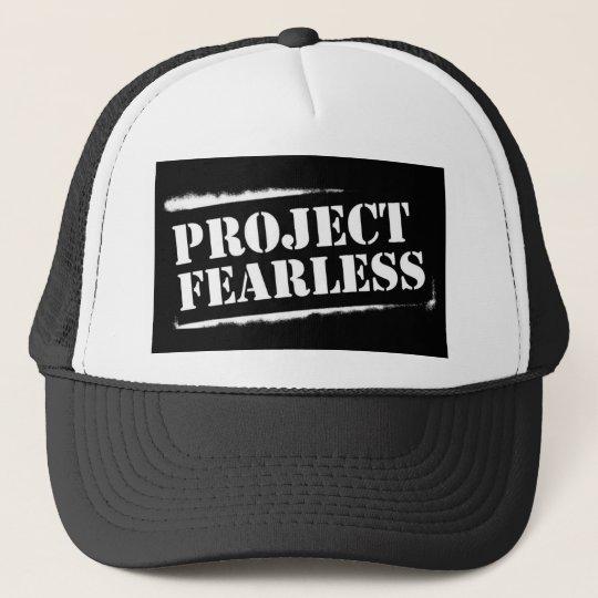 Project Fearless BLACK Trucker Cap