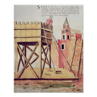 Project for a siege tower poster