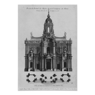 Project for the church of Saint-Sulpice Poster