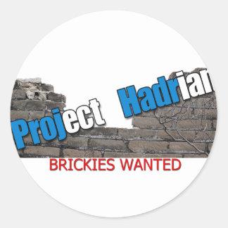 Project Hadrian Classic Round Sticker