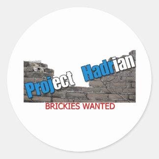 Project Hadrian Round Sticker
