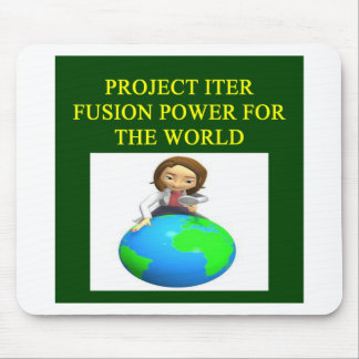 project iter nuclear fusion reactor mouse pad