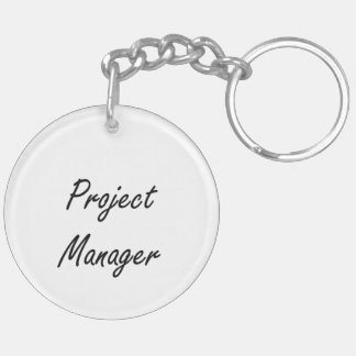 Project Manager Artistic Job Design Double-Sided Round Acrylic Key Ring