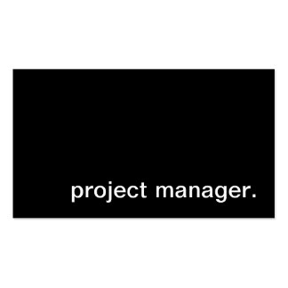 project manager. pack of standard business cards