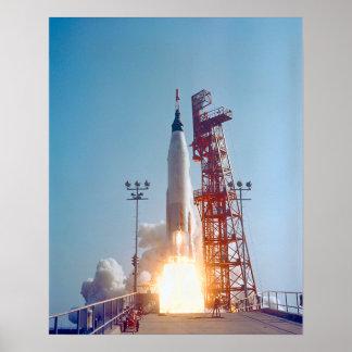 Project Mercury MA-9 Launch, Faith 7 Poster