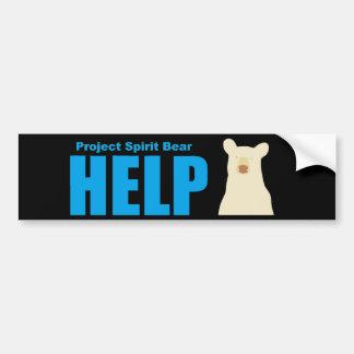 project spirit bear help bumper sticker