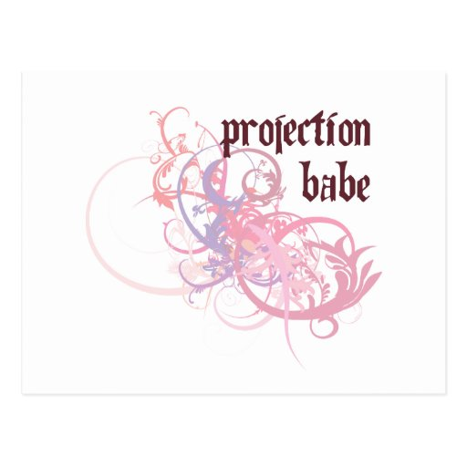 Projection Babe Postcards