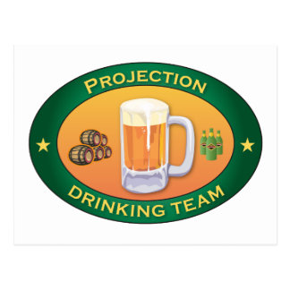Projection Drinking Team Postcard