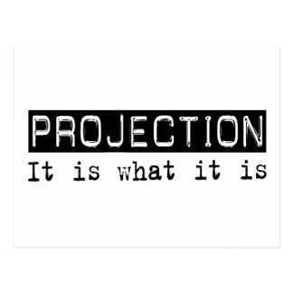 Projection It Is Postcard