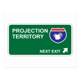 Projection Next Exit Post Cards