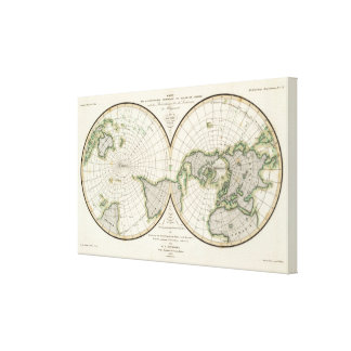 projection showing magnetic declination gallery wrap canvas