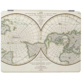 projection showing magnetic declination iPad cover