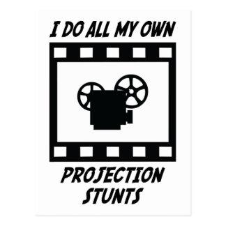 Projection Stunts Postcard