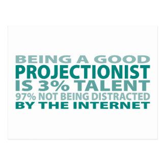 Projectionist 3% Talent Postcard