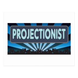 Projectionist Marquee Postcard