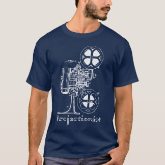 Projectionist T-Shirt white print