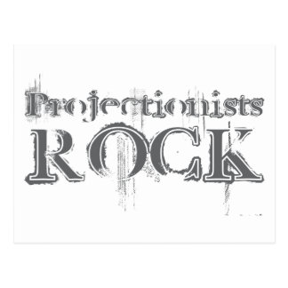 Projectionists Rock Postcard