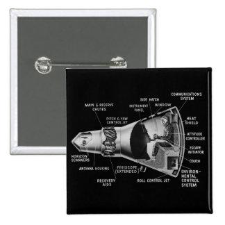 Projecy Mercury Cutaway 15 Cm Square Badge