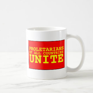 proletarians of all countries unite basic white mug