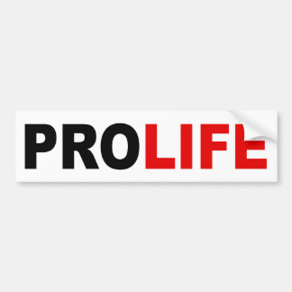"""PROLIFE"" BUMPER STICKER"