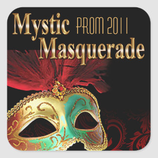Prom 2011 Mystic Masquerade Party Square Sticker