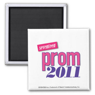 Prom 2011 - Pink Square Magnet