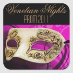 Prom 2011 Venetian Nights Masquerade Party Square Sticker