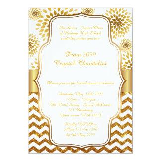 Prom Crystal Chandelier card, senior junior,Gatsby 13 Cm X 18 Cm Invitation Card