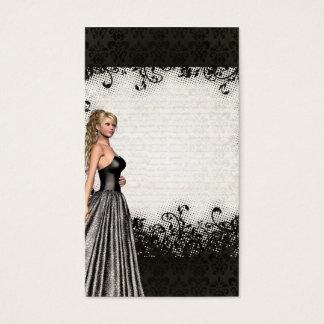 Prom girl in a black dress