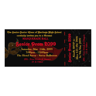 Prom Invitation Ticket Masquerade Style,chic,trend