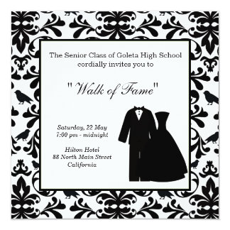 Monogram tuxedo cards invitations zazzle prom night card stopboris Image collections