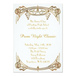 Prom Night Classic 13 Cm X 18 Cm Invitation Card