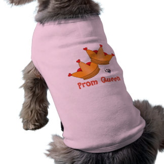 Prom Queen Design Pet Tank Shirt