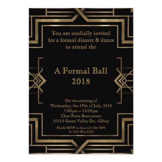 Prom senior formal, great Gatsby style Card