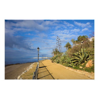 Promenade Along Mediterranean Sea in Marbella Photograph