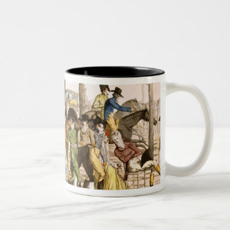 Promenade at Longchamps, 1802 (engraving) Two-Tone Coffee Mug