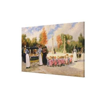 Promenade des Enfants Gallery Wrapped Canvas