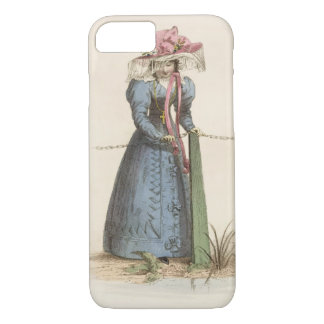 Promenade Dress, fashion plate from Ackermann's Re iPhone 8/7 Case